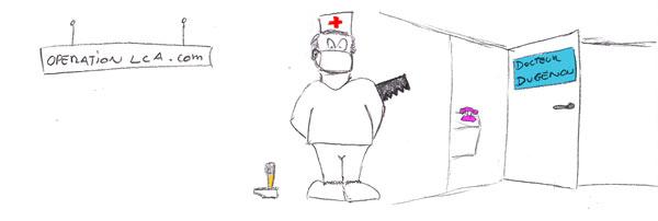 opération du genou chez le chirurgien
